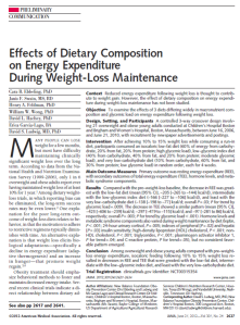 Article on dietary intake from the Journal of the American Medical Association