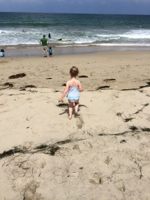 My 4 year old enjoying the sun and sand - who has time for exercise?