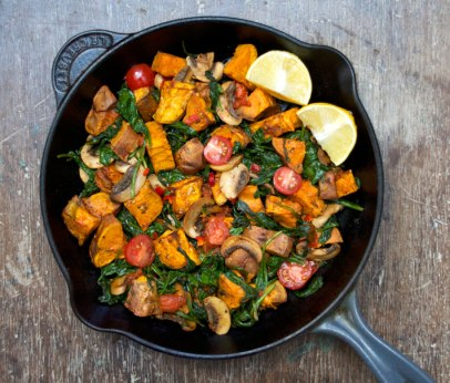 warm sweet potato salad 1