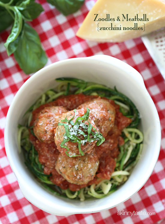 zoodles and meatballs zucchini noodles the weight loss
