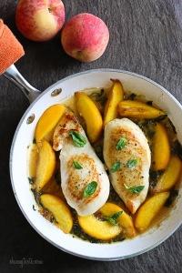 Basil-Peach Chicken Breasts